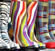 Wet weather - Funky wellies optional, our TOP TIPS  of what to do if the weather is not as kind as you would like during you're visit