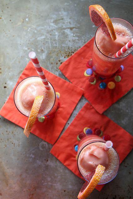 Champagne and Blood Orange Sorbet Sparkler by Heather Christo, via Flickr
