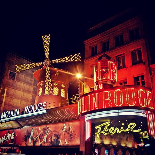 Moulin Rouge, Paris. Been here! Great show with original music, costumes, and scenes!