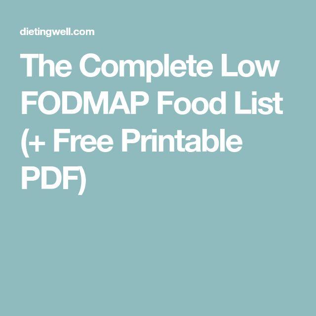 The Complete Low FODMAP Food List (+ Free Printable PDF)