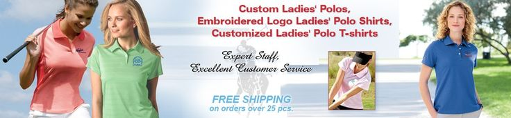Order online at EZ Corporate Clothing and put your company logo on custom embroidered women's polo shirts. We can custom embroider your logo on ladies polos by some of the very best brands including Adidas and Nike polo shirts for women, plus Gildan, Jerzees, Ultraclub, Port Authority, Sport-Tek, and many others.