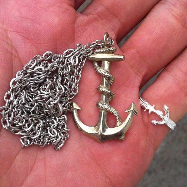 SALE! Serpent Anchor Necklace Reduced To $19.99 & Anchor Ring $14.99 First In Best Dressed! Free World Delivery!! xxx