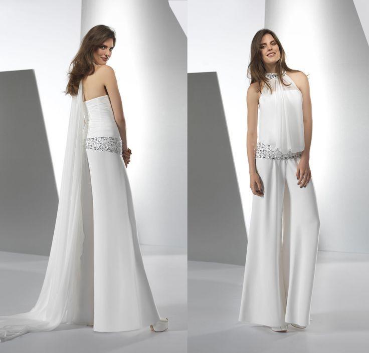 white wedding jumpsuits  Google Search  Fashion