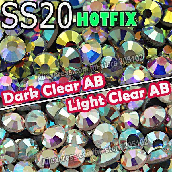 Cheap 1440pcs SS20 / Bolsa Borrar AB Crystal DMC Hotfix Rhinestones FlatBack cristal de strass , de hierro en piedras de cristal de transferencia de calor Hot Fix recortar, Compro Calidad Diamantes de Imitación directamente de los surtidores de China:                                                                         * Diferentes col