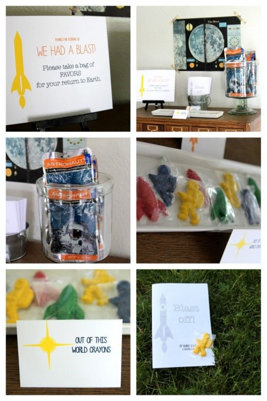 One Charming party: outer space party favors