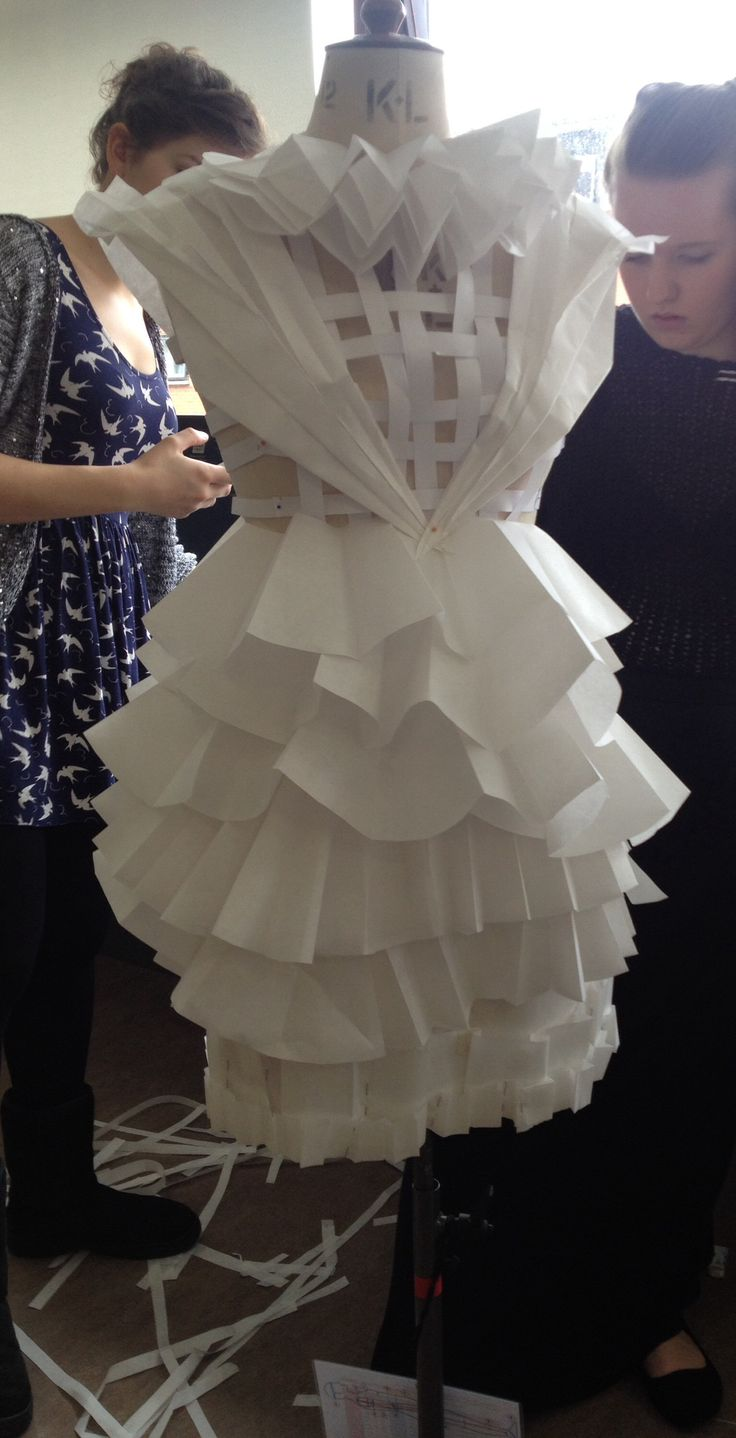 Experimentation with paper | Paper dresses | Pinterest ... - photo#27