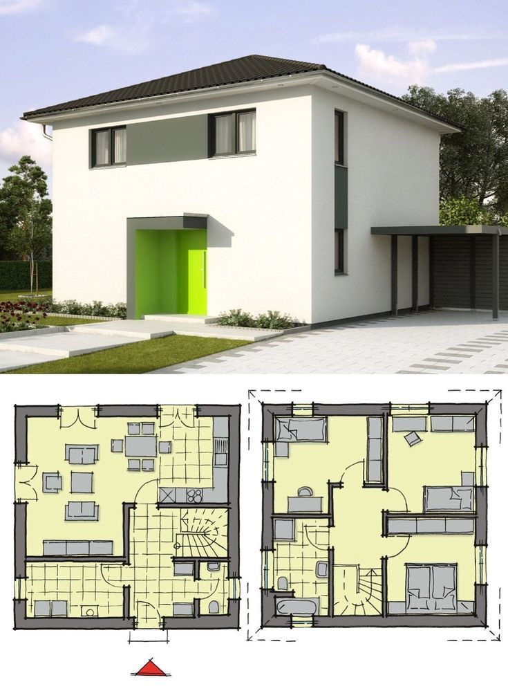 Stadtvilla klein mit Zeltdach Architektur