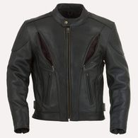 Leather Motorcycle Jacket with vents and armour