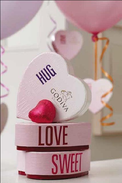 Mini Heart-shaped boxes of Godiva chocolates for your Valentine. Shop @Georgina Frangos Chocolatier Scarborough Town Centre. #valentine #chocolates
