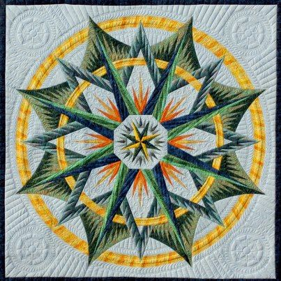 Mariner's Compass - Quiltworx  Wow!