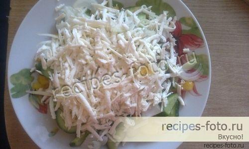 Вкусный салат на скорую руку Шопский рецепт с фото пошагово