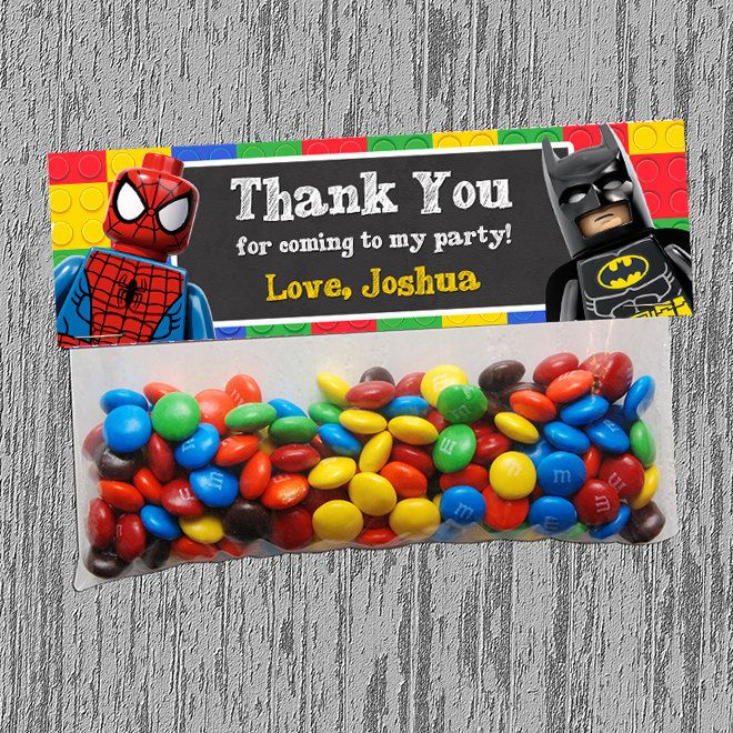 Lego Superhero Goodie Bag Topper Digital by LastingMomentsDesign, $5.00