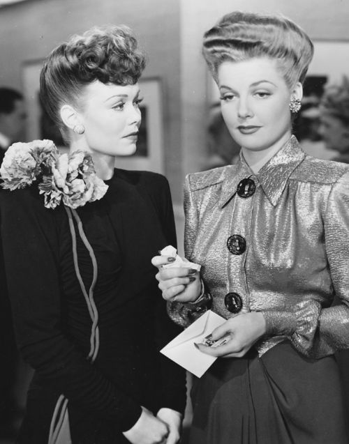 Jane Wyman and Ann Sheridan in The Doughgirls (1944)
