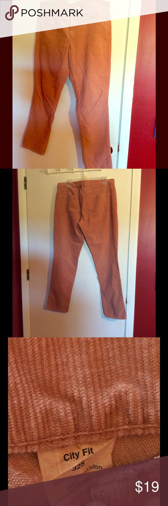 Salmon pink cord pants Excellent condition. Short cord pants. Color is a light rose or salmon pink. J. Crew Pants Straight Leg