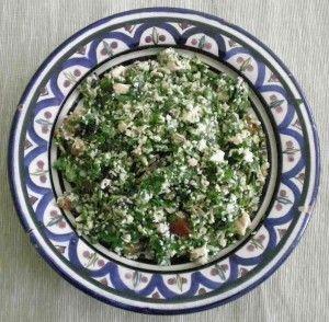 Tabbuleh bulgur libanese