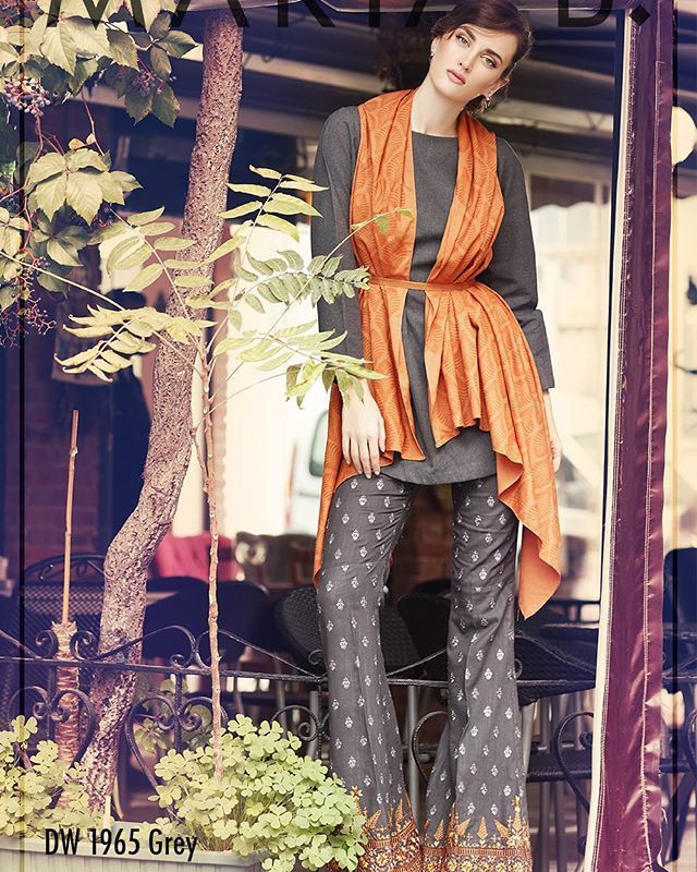 For all fashionistas out there get this #Pictureperfect #winter #lookfrom any #MARIAB outlets!  Shop online at: www.mariab.pk or www.mariab.ae pakistani desi outfits 2016 2017