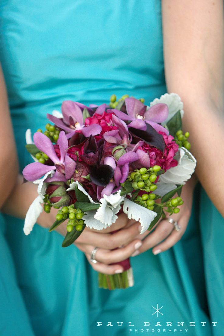 Purple Orchids Amp Teal Bridesmaid Dresses Perfect For A