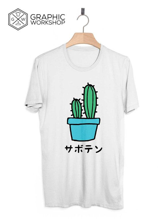 Japanese Cactus T-Shirt // Japanese Clothing Naive Tumblr Harajuku Vaporwave Aesthetics Guacamole Sad Boys Love Plants Are Friends Yung Lean