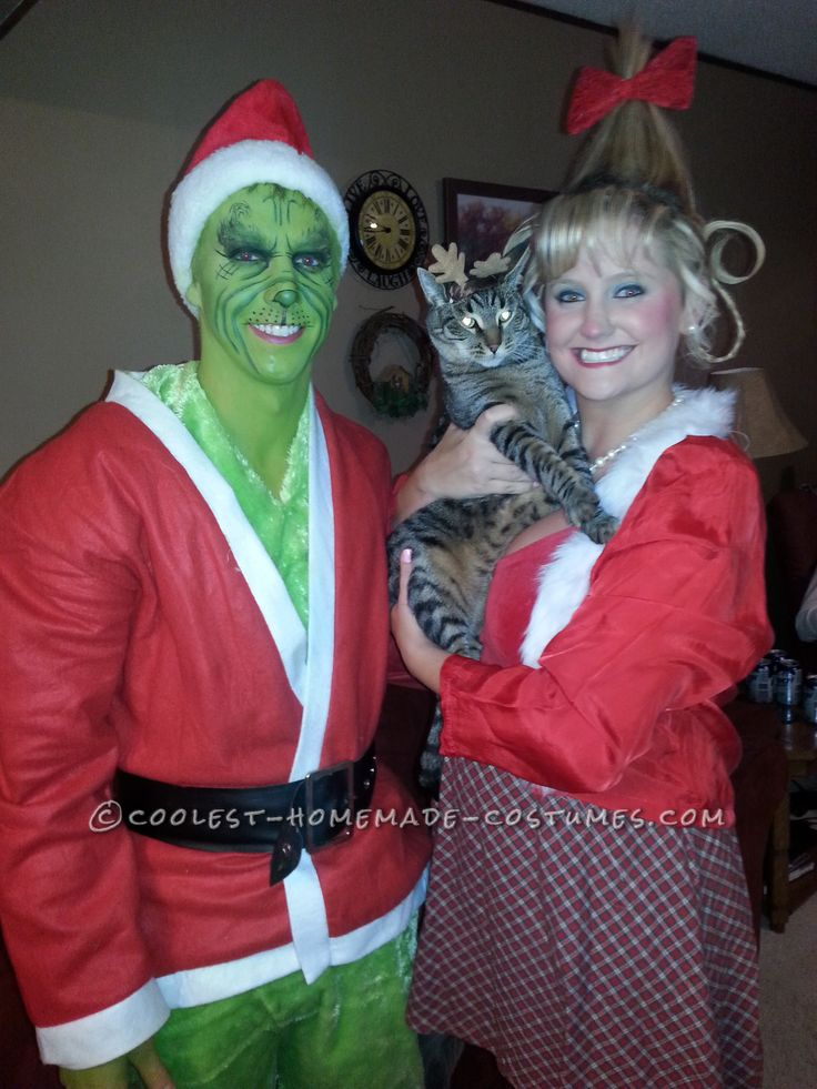 Cool Couples Halloween Costume: Grinch and Cindy Lou Who... Coolest Homemade Costumes