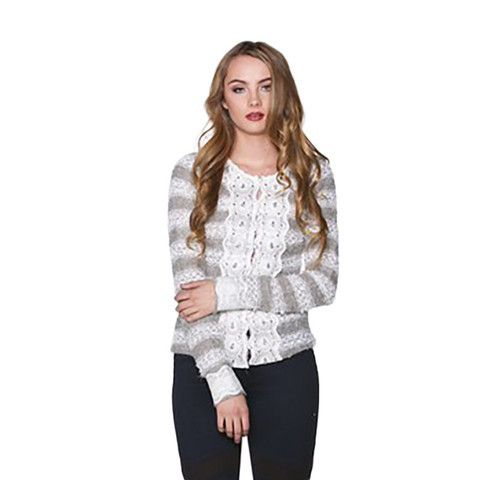 Ryu Sweater Cardigan With Lace Detail