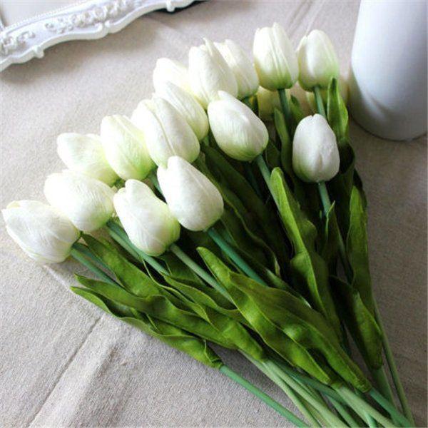 Wedding Decor PU Tulip Artificial Wedding Home Design Bouquet Flowers