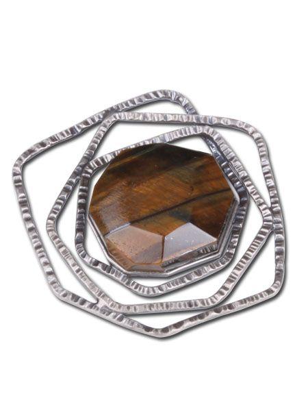 Gemstone brooch