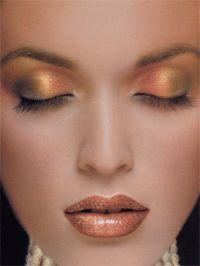 warm shiny copper tones