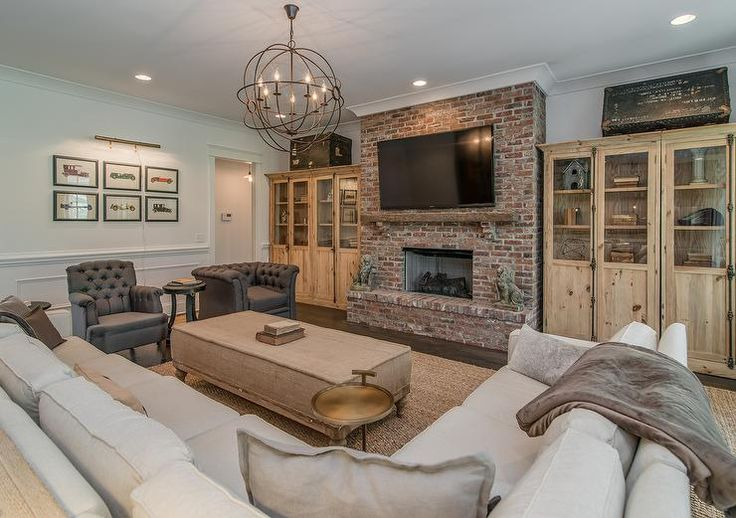 the brick living room beautiful living room features a brick fireplace 17091