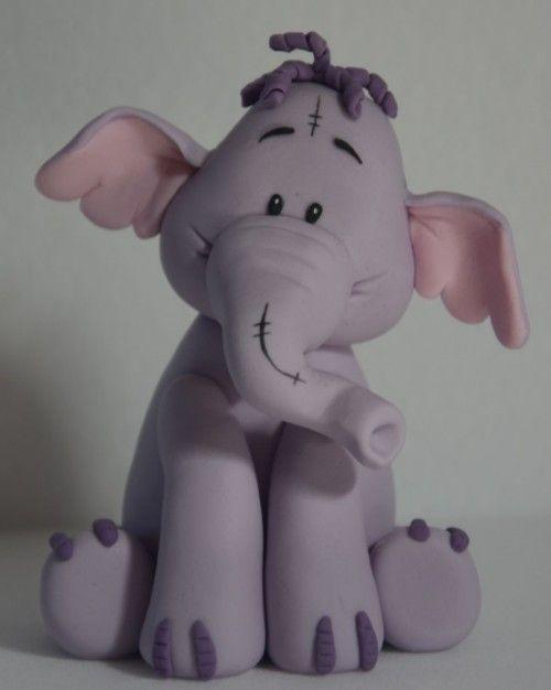 Elephant fondant figure