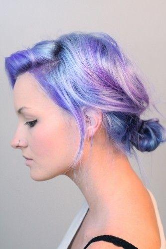 violet hair lavender hair blue hair ombre hair updo