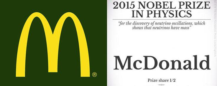 Après des années à proposer des recettes toujours plus savoureuses, Mc Donald's a enfin été récompensé d'un prix Nobel de Physique.