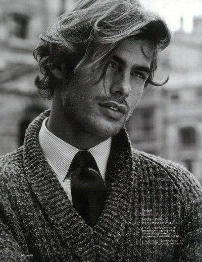 Messy Long Hair Style for Men