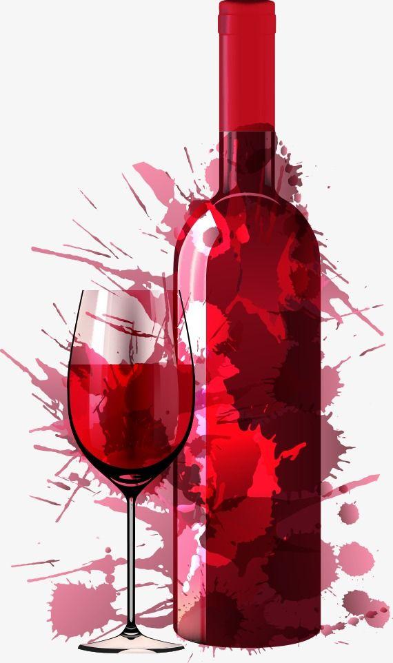 Le Vecteur De Création De Verre De Vin Rouge, Vin Rouge