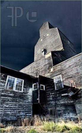 Picture of Old Grain Elevator wooden landmark Saskatchewan Canada
