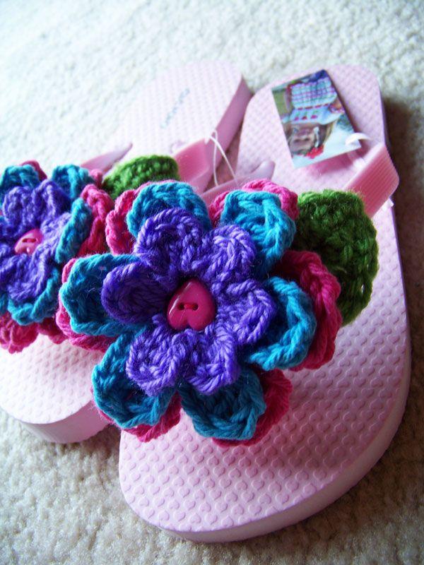 crochet d lane: Fun With Flip-Flops Continues...