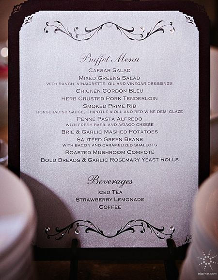 Best 25 wedding buffet menu ideas on pinterest backyard wedding custom buffet menu invitationsbydragonflydesigns custom wedding stationery stopboris Choice Image