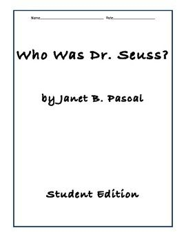 Who Was Dr. Suess Comprehension Questions in 2019