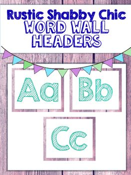 If you love rustic shabby chic style, then these word wall headers are just for you! Use them to display sight words in your classroom. Enjoy! If you have any questions, please feel free to email me at:texasteachingtips@gmail.com