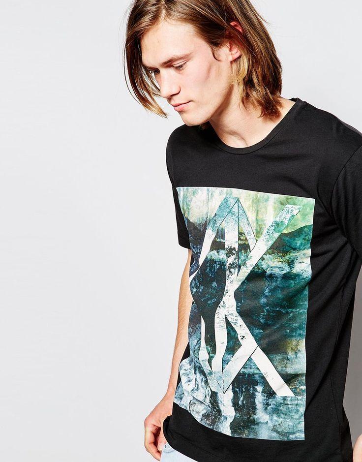 Calvin Klein Jeans T-Shirt with Optical CK Print