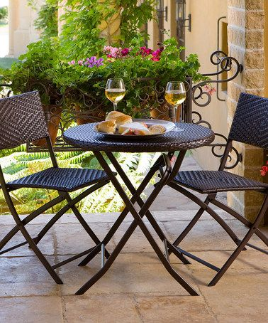 Take a look at this Red Star Traders Bistro Patio Set by RST OUTDOOR on #zulily today!
