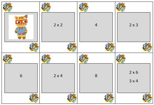 Jeu de mistigri pour apprendre les tables de multiplication - La classe de Mallory