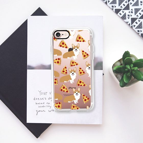 Corgi pizza cheesy slices welsh corgi lovers cell phone case must have gifts for dog person with corgis - Classic Grip Case