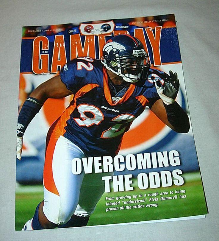 2008 DENVER BRONCOS vs. KANSAS CITY CHIEFS GAME PROGRAM - ELVIS DUMBERVIL COVER #DenverBroncos