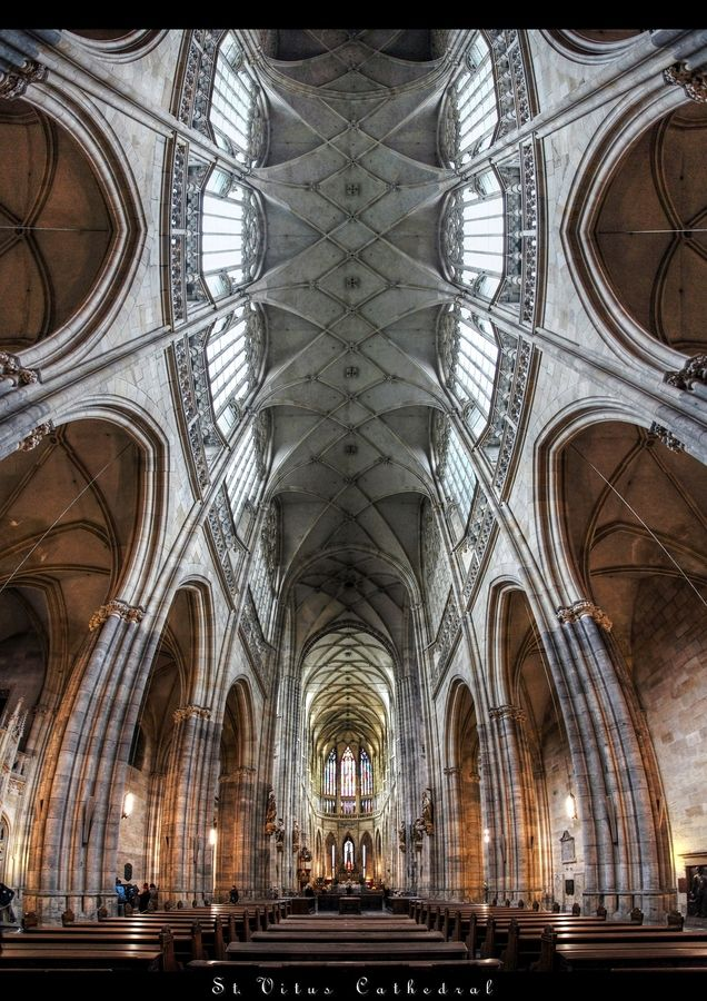Katedrála sv. Víta, Praha | St. Vitus Cathedral, Prague, Czech republic  || Top Ten Favorite Attractions Guests can Walk to From the ARIA Hotel Prague: http://www.libraryhotelcollection.com/blog/top-ten-prague-attractions/ #Praha #Prague #BookLHC