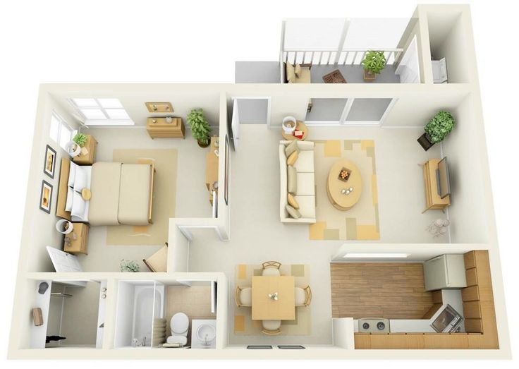 Apartment Home Design one bedroom apartment home design plans. credit: oryxre oryxre