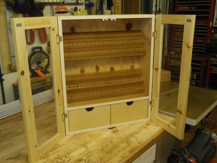 Router Bit Wall Cabinet From Scraps By Bluekingfisher