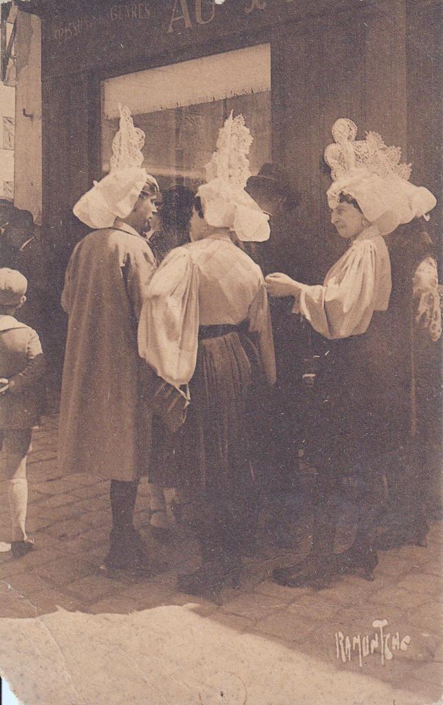 Groupe de sablaises. 1907