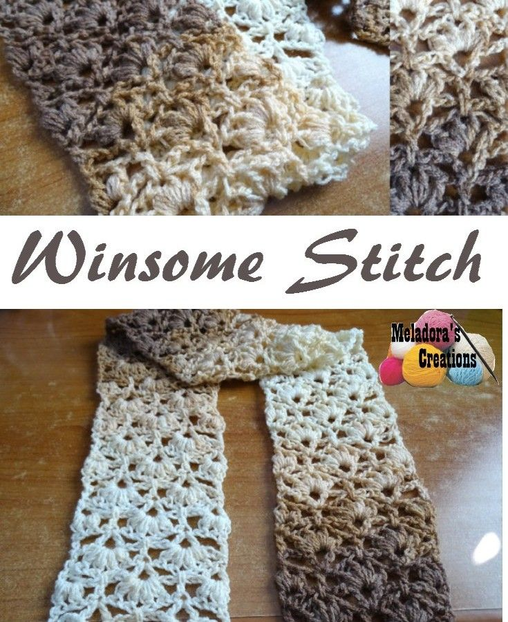 Winsome Stitch scarf free crochet pattern & video tutorial