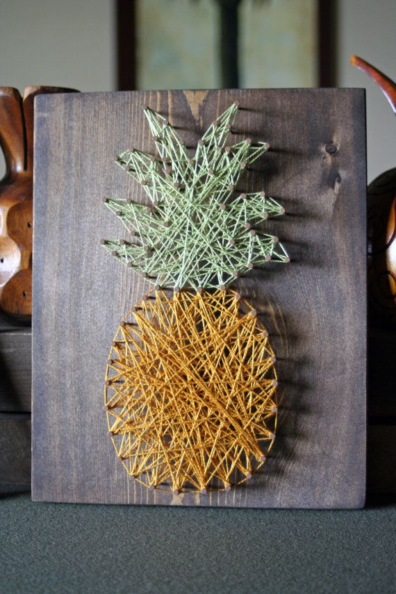 OMG I LOVE THIS The Pineapple Crate - String Art by mulberrycrate