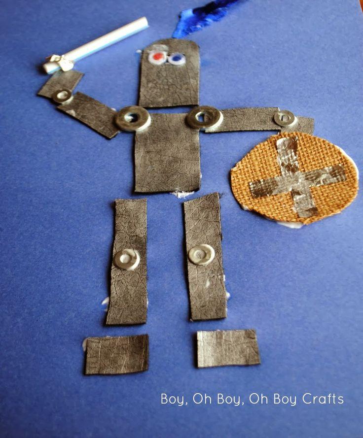 Boy, Oh Boy, Oh Boy Crafts: Medieval Knight Kid's Craft